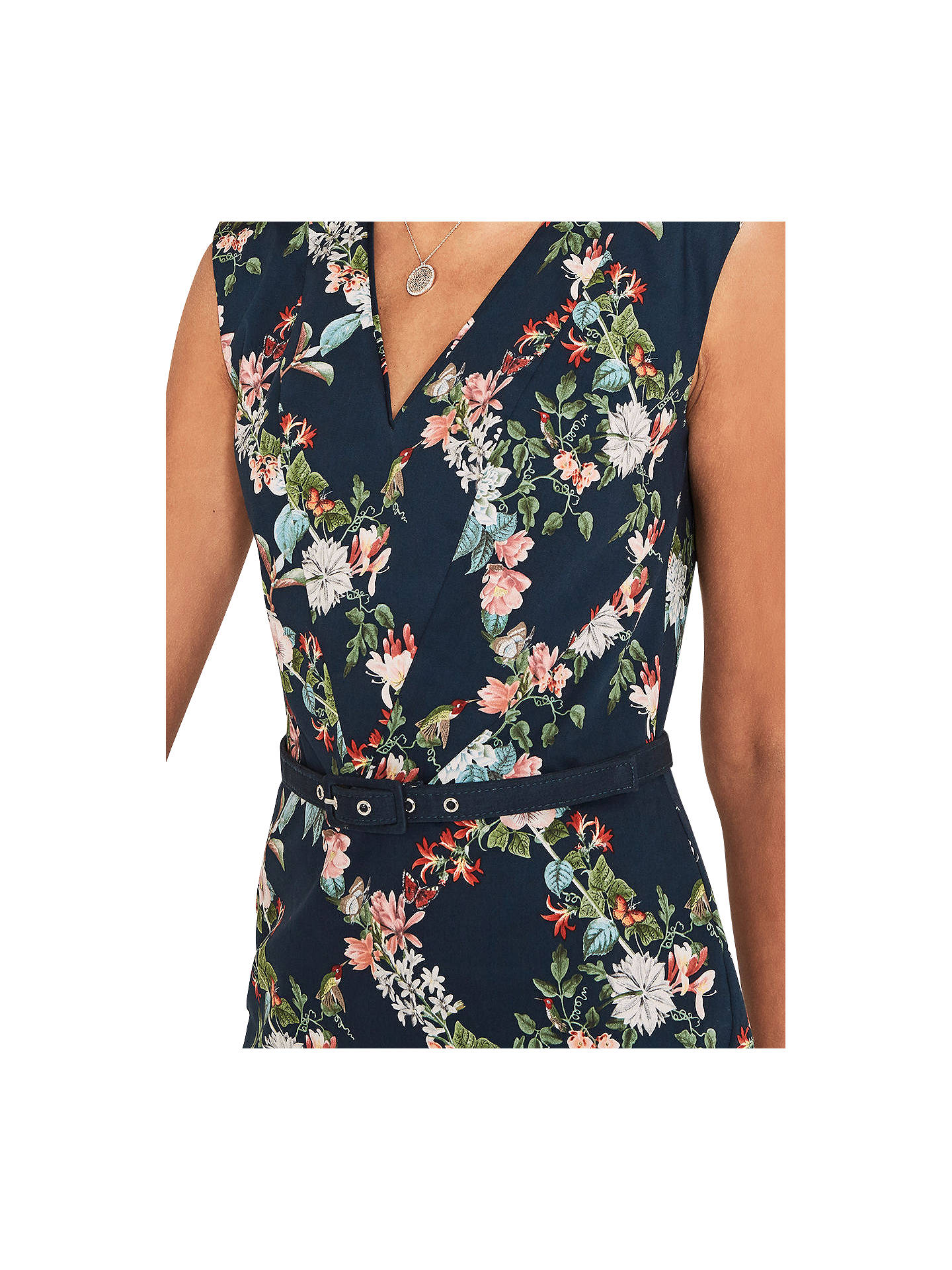 4d22a372b65a ... Buy Oasis Fitzwilliam Floral Pencil Dress, Turquoise, 6 Online at  johnlewis.com