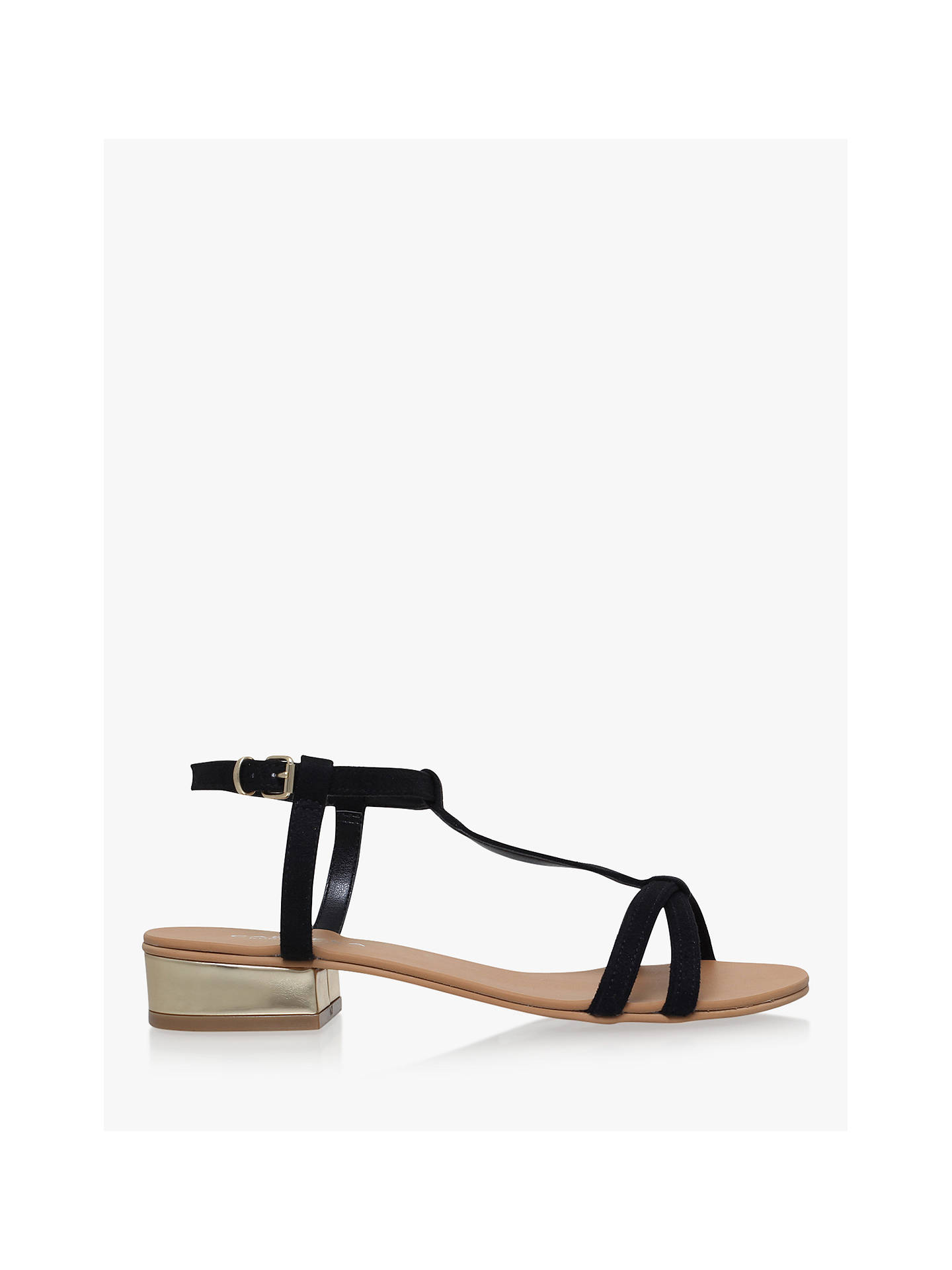 2dc98f89b ... Buy Carvela Bravo Suedette Sandals, Black, 3 Online at johnlewis.com ...