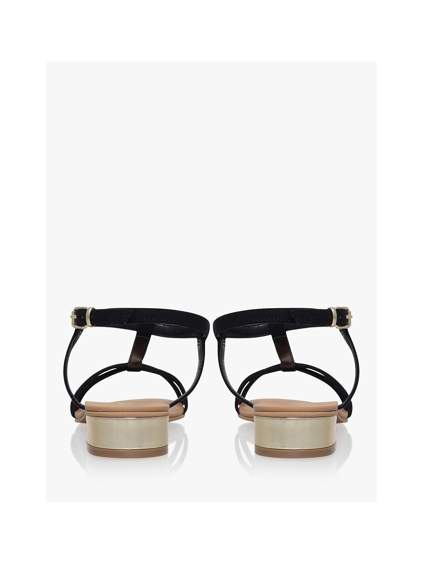 Buy Carvela Bravo Suedette Sandals, Black, 3 Online at johnlewis.com
