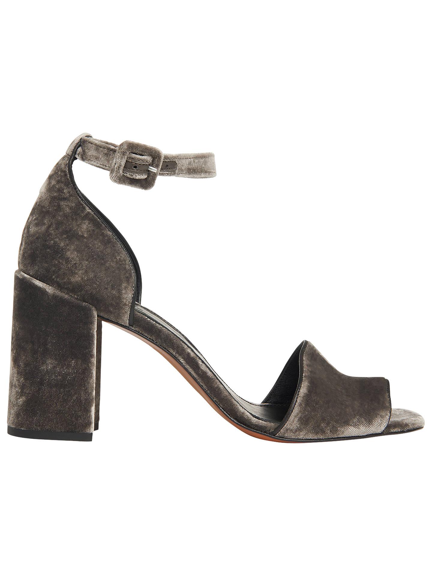 084bb0ef920 Buy Whistles Hedda Velvet Block Heeled Sandals