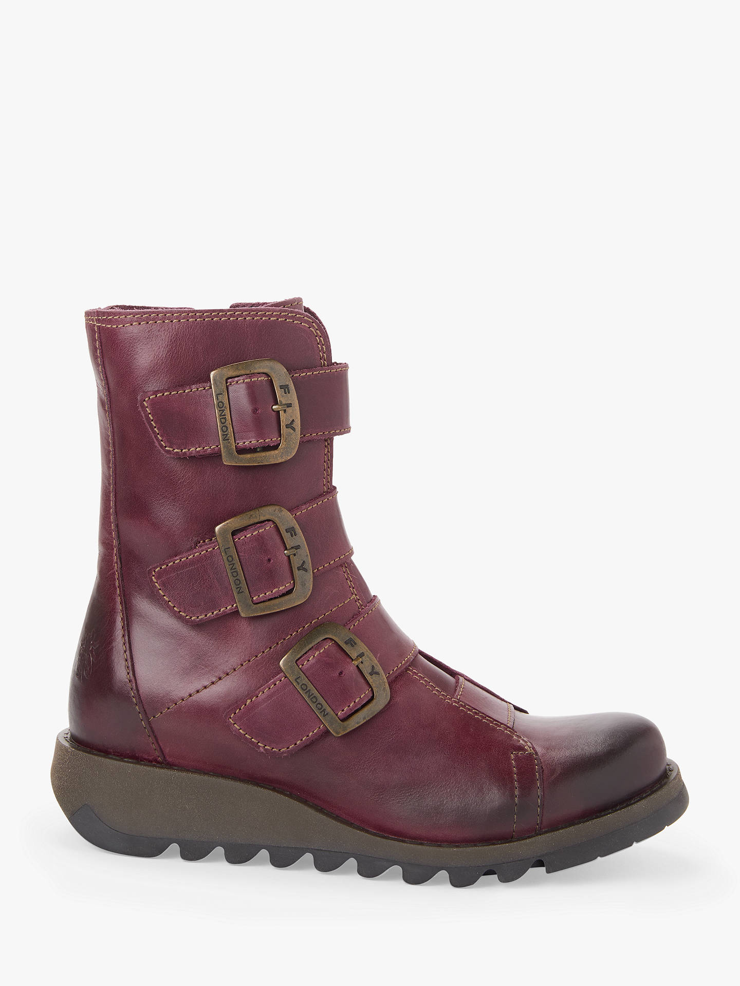 8bd5c27ba4f Fly London Scop Triple Buckle Ankle Boots at John Lewis & Partners