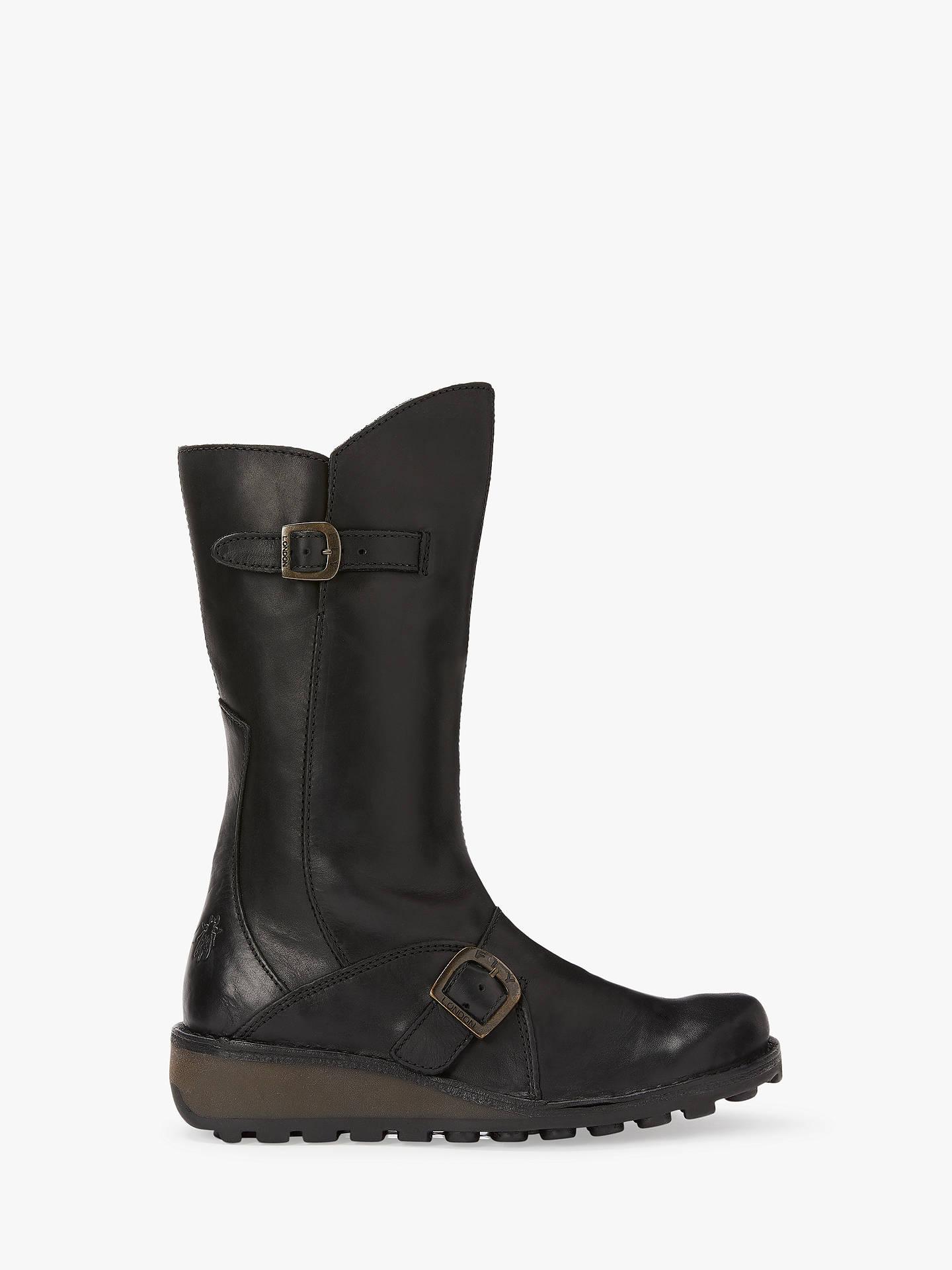 c83d97d428b Fly London Mes Wedge Heel Calf Boots at John Lewis & Partners