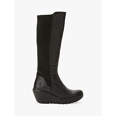 Fly London YEVE779Fly Wedge Heel Knee High Boots
