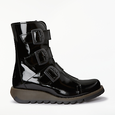 Fly London Scop Triple Buckle Ankle Boots