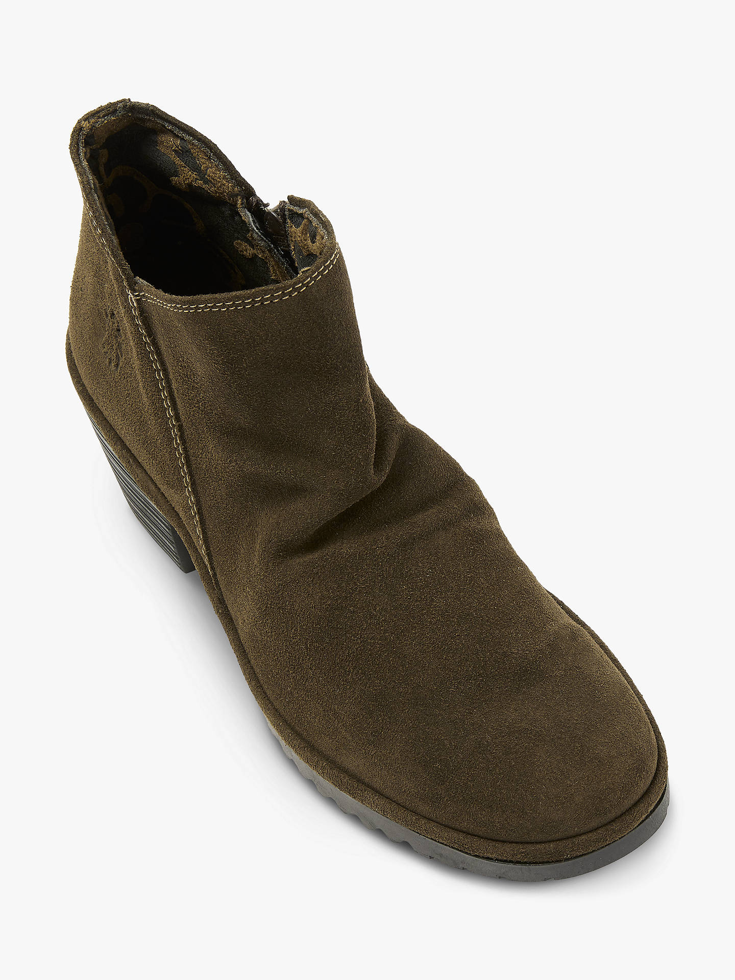 2fea19aca2c ... Buy Fly London WEZO890Fly Slip On Ankle Boots, Green Suede, 4 Online at  johnlewis