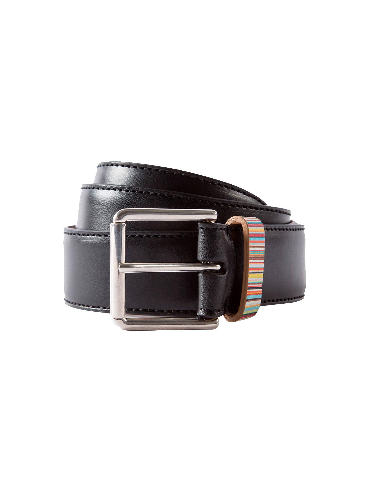 b8f5b4d11c3be Buy Paul Smith Signature Stripe Keeper Leather Belt, Black/Multi, M Online  at ...