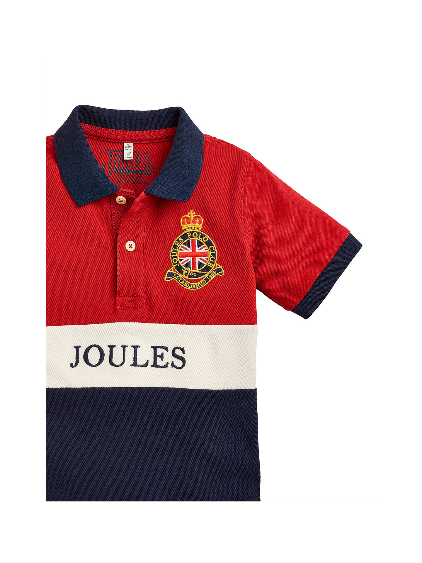 Little Joule Boys Harry Polo Shirt Red At John Lewis Partners
