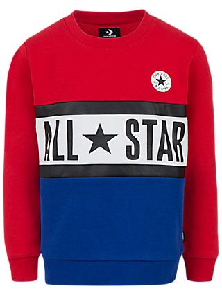 Converse Boys' All Star Paneled Sweatshirt, Red