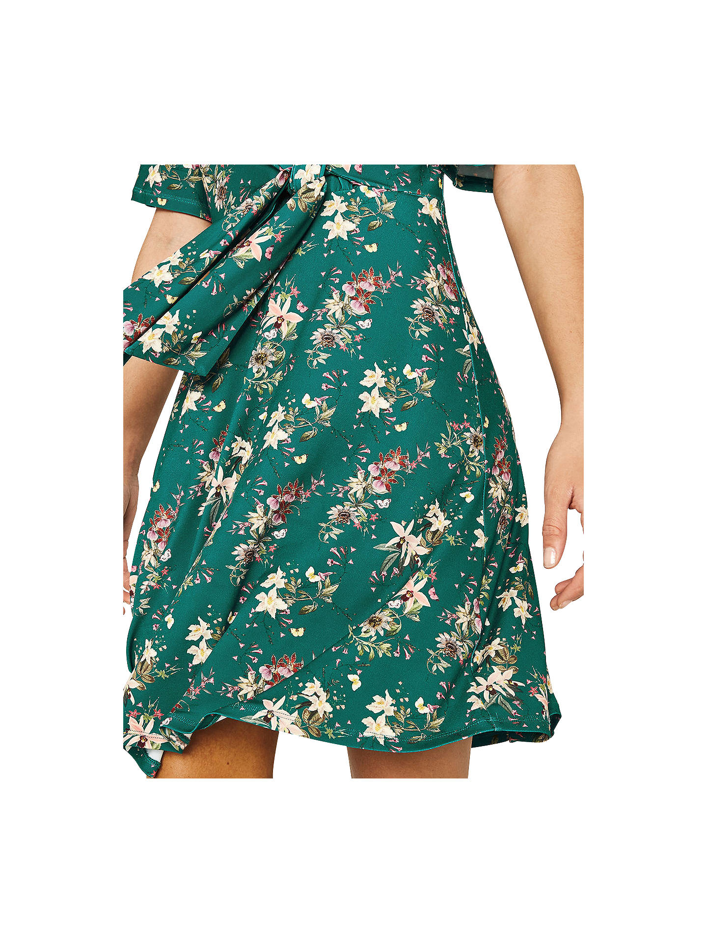 b28bfb0c457a Buy Oasis Mini Kelsey Tie Dress, Multi/Green, XS Online at johnlewis.
