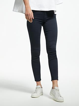 7 For All Mankind Skinny Cropped Sateen Jeans