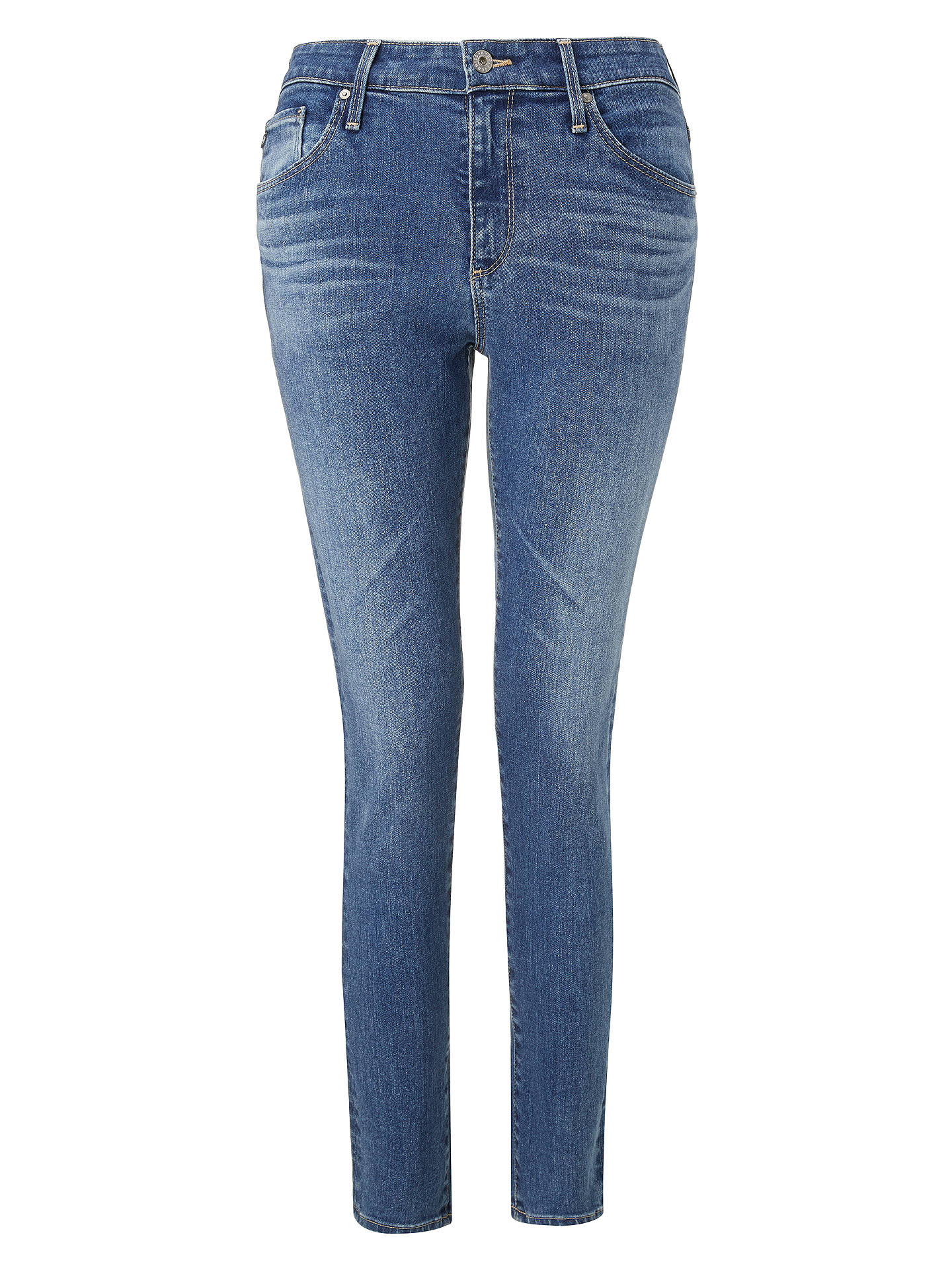BuyAG The Farrah High Rise Skinny Ankle Jeans, California Blue, 23 Online at johnlewis.com
