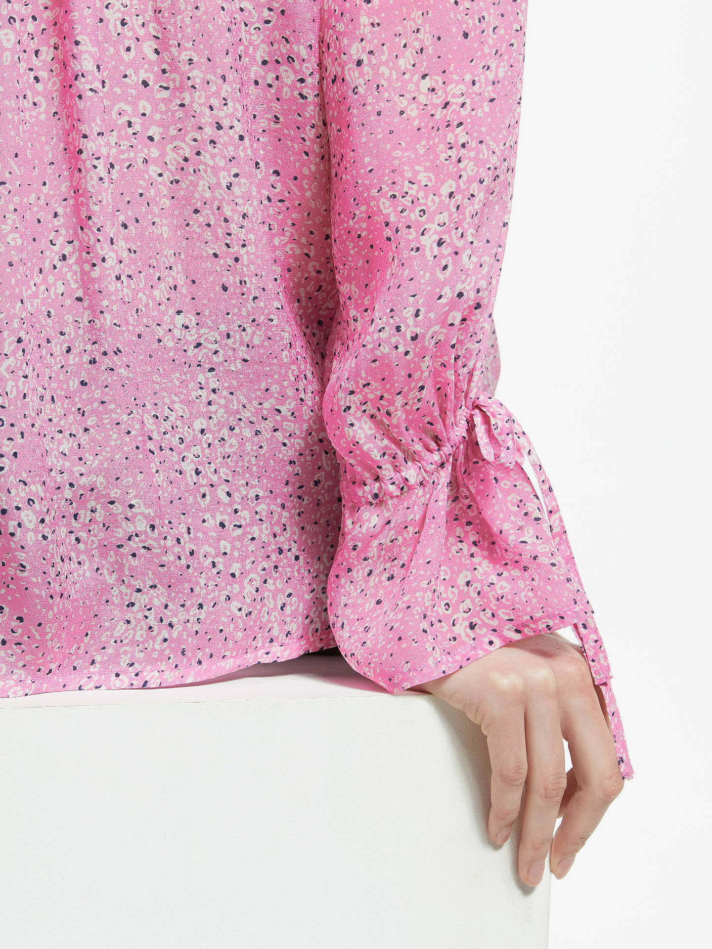 BuyPyrus Anais Tiny Animal Print Blouse, Pink, XS Online at johnlewis.com