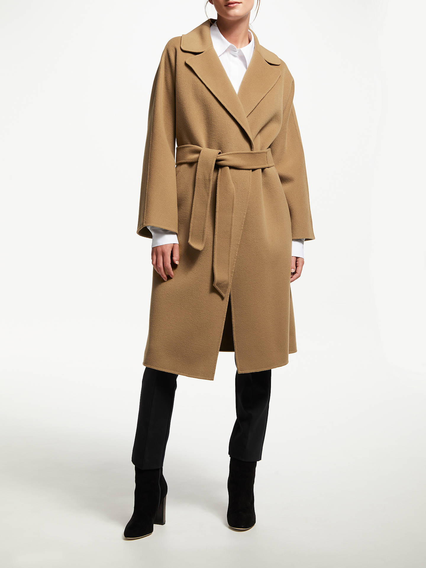 8dffe405622c8 Buy Weekend MaxMara Burgos Wool Belted Coat, Camel, 8 Online at  johnlewis.com ...