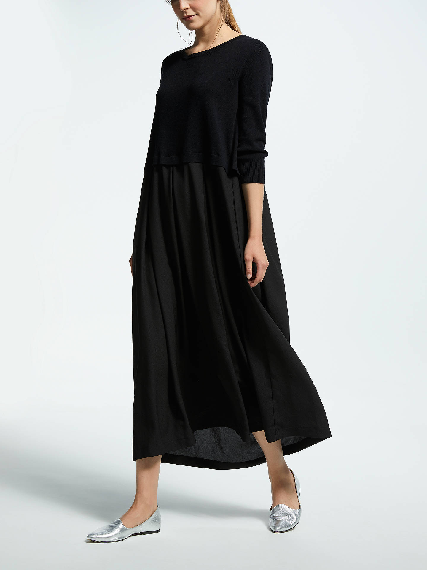 28720e7c070 Buy Weekend MaxMara Knit Overlay Maxi Dress, Black, M Online at  johnlewis.com ...
