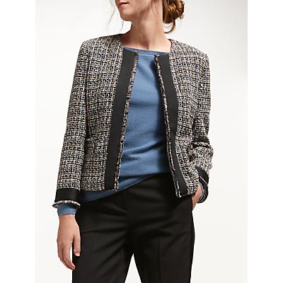 Marella Donna Tweed Jacket, Black