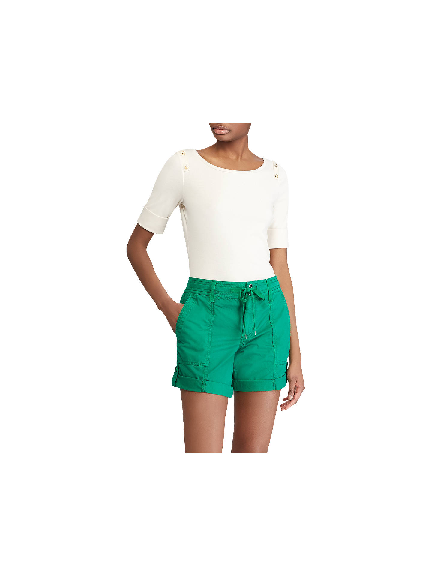 BuyLauren Ralph Lauren Chanley Knit Top, Parchment, XS Online at johnlewis.com