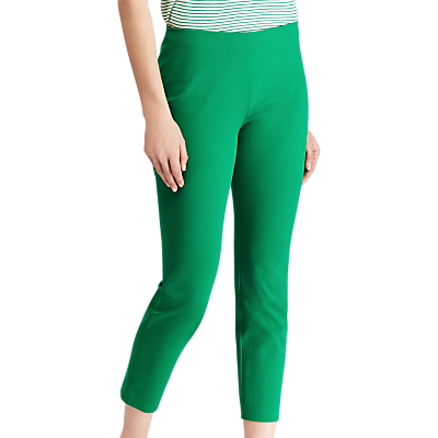 Lauren Ralph Lauren Keslina Stretch Twill Skinny Crop Trousers, Tropical Green