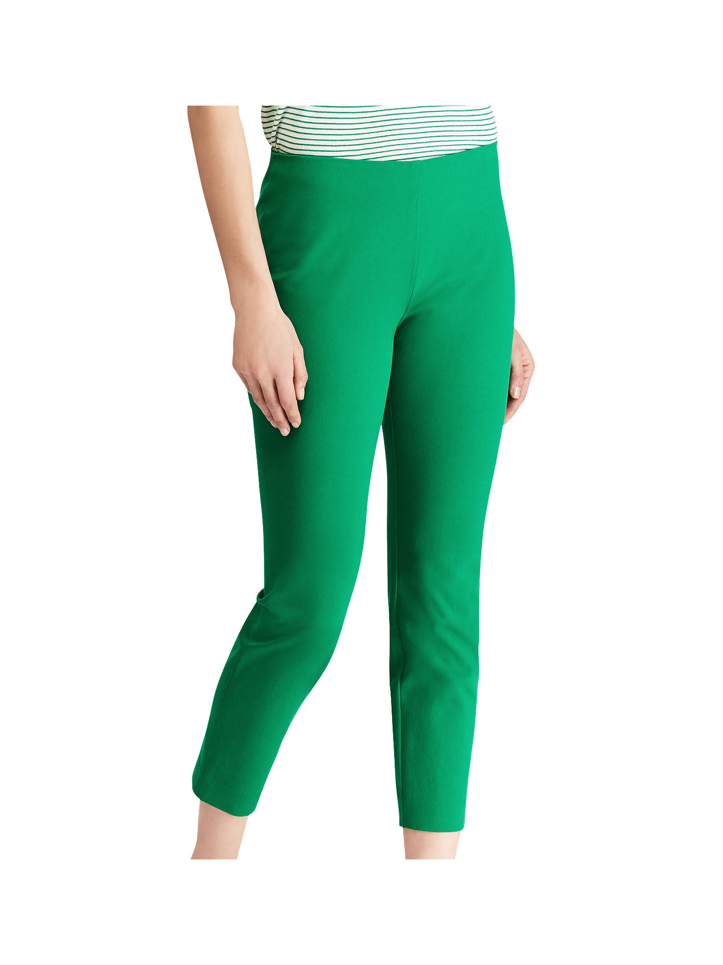 3a3d05ac4 Lauren Ralph Lauren Keslina Stretch Twill Skinny Crop Trousers ...