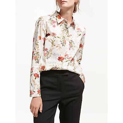 Marella Cherry Floral Print Shirt, White/Multi
