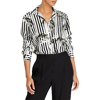 Lauren Ralph Lauren Jamelko Tropical Print Shirt, Black/White