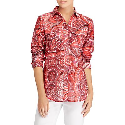 Lauren Ralph Lauren Courtenay Long Sleeve Shirt, Red/Multi