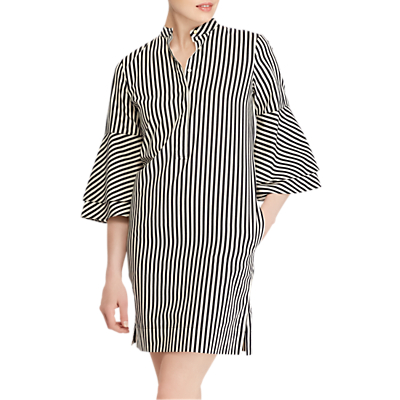 Lauren Ralph Lauren Florino Bell Sleeve Dress, Polo Black/Parchment White
