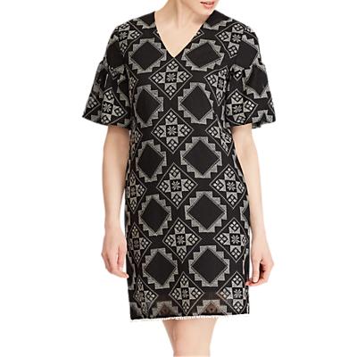 Lauren Ralph Lauren Elbow Sleeve Casual Dress, Polo Black