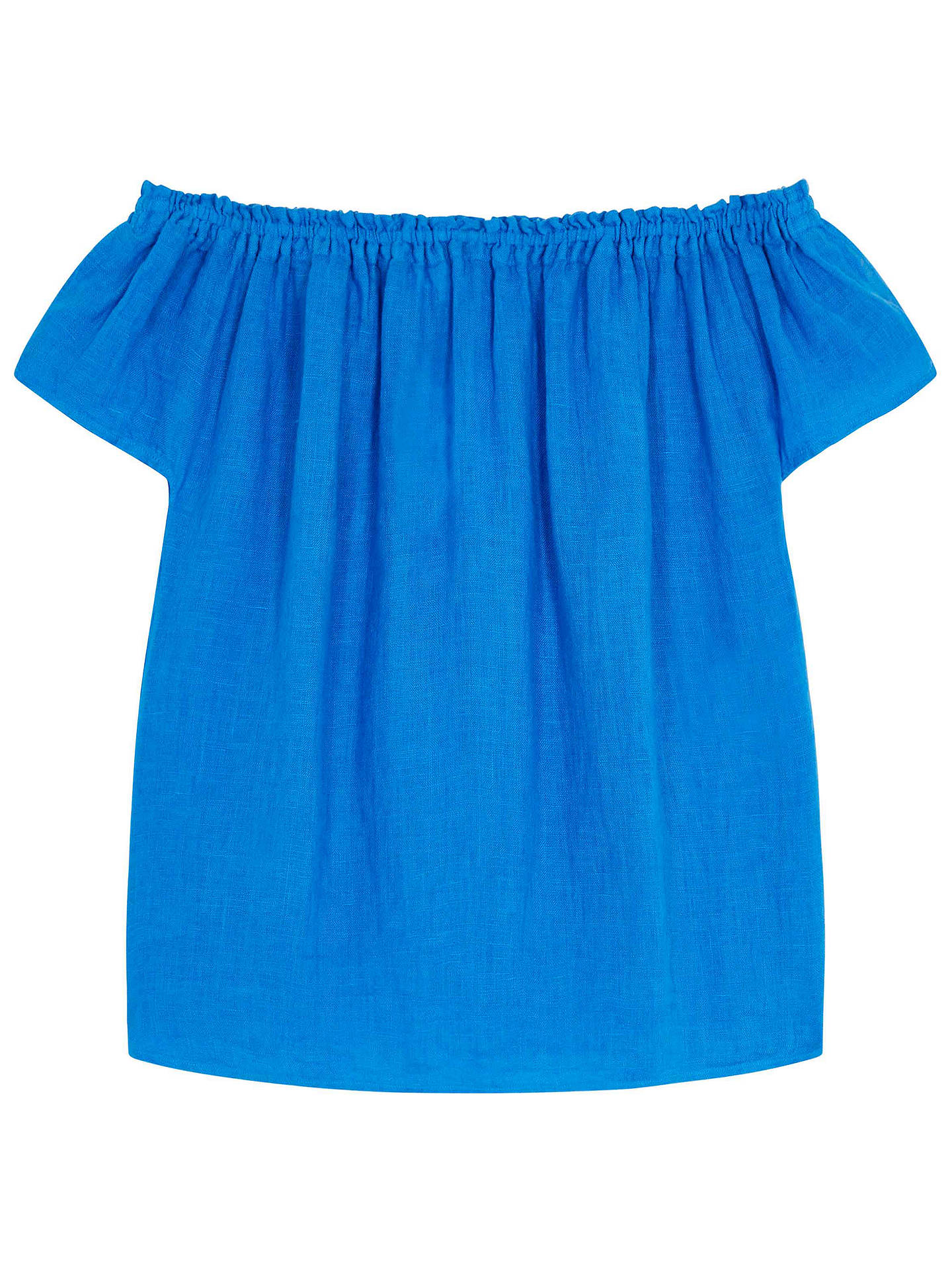 Buy Brora Gauzy Linen Sun Top, Harbour, 8-10 Online at johnlewis.com