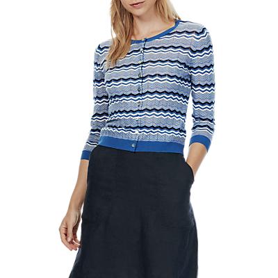 Brora Cotton Wave Knit Cardigan