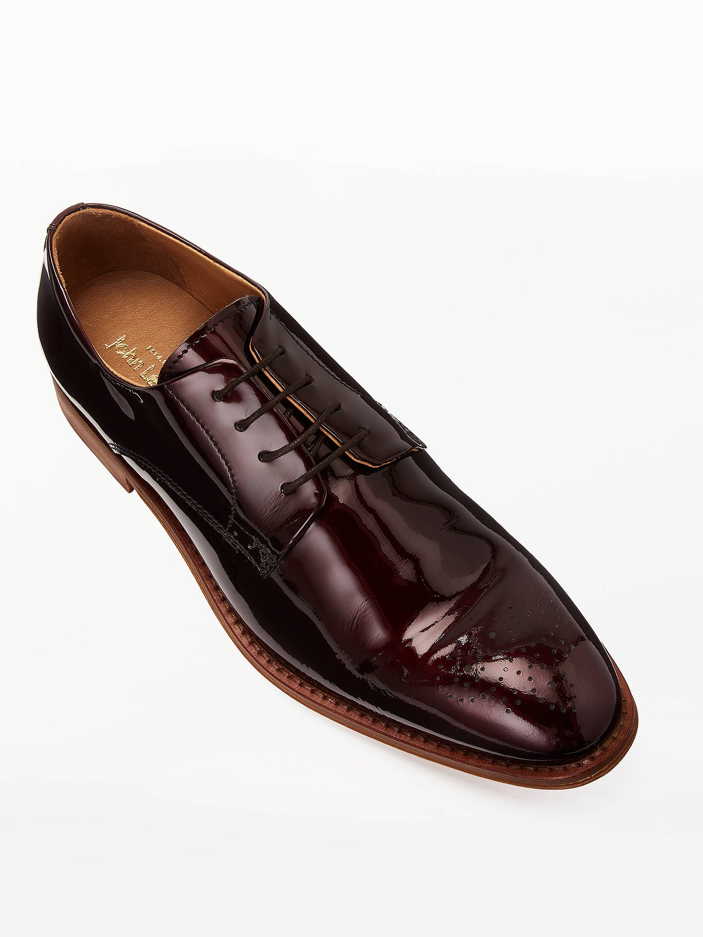 BuyJohn Lewis & Partners Hubert Patent Derby Brogues, Red, 7 Online at johnlewis.com