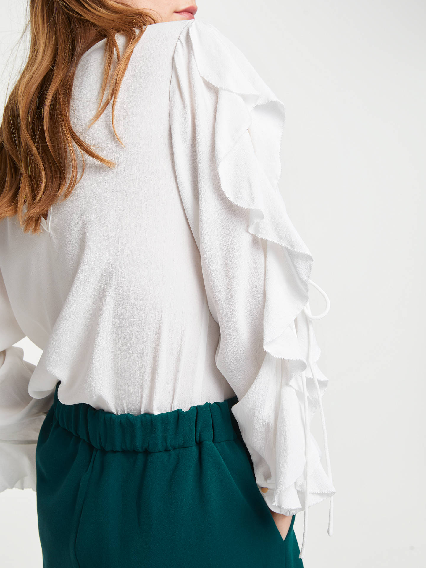 Buy SUNCOO Leonard Blouse, White, 12 Online at johnlewis.com