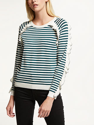 Buy SUNCOO Pam Jumper, Green/Multi, 8 Online at johnlewis.com
