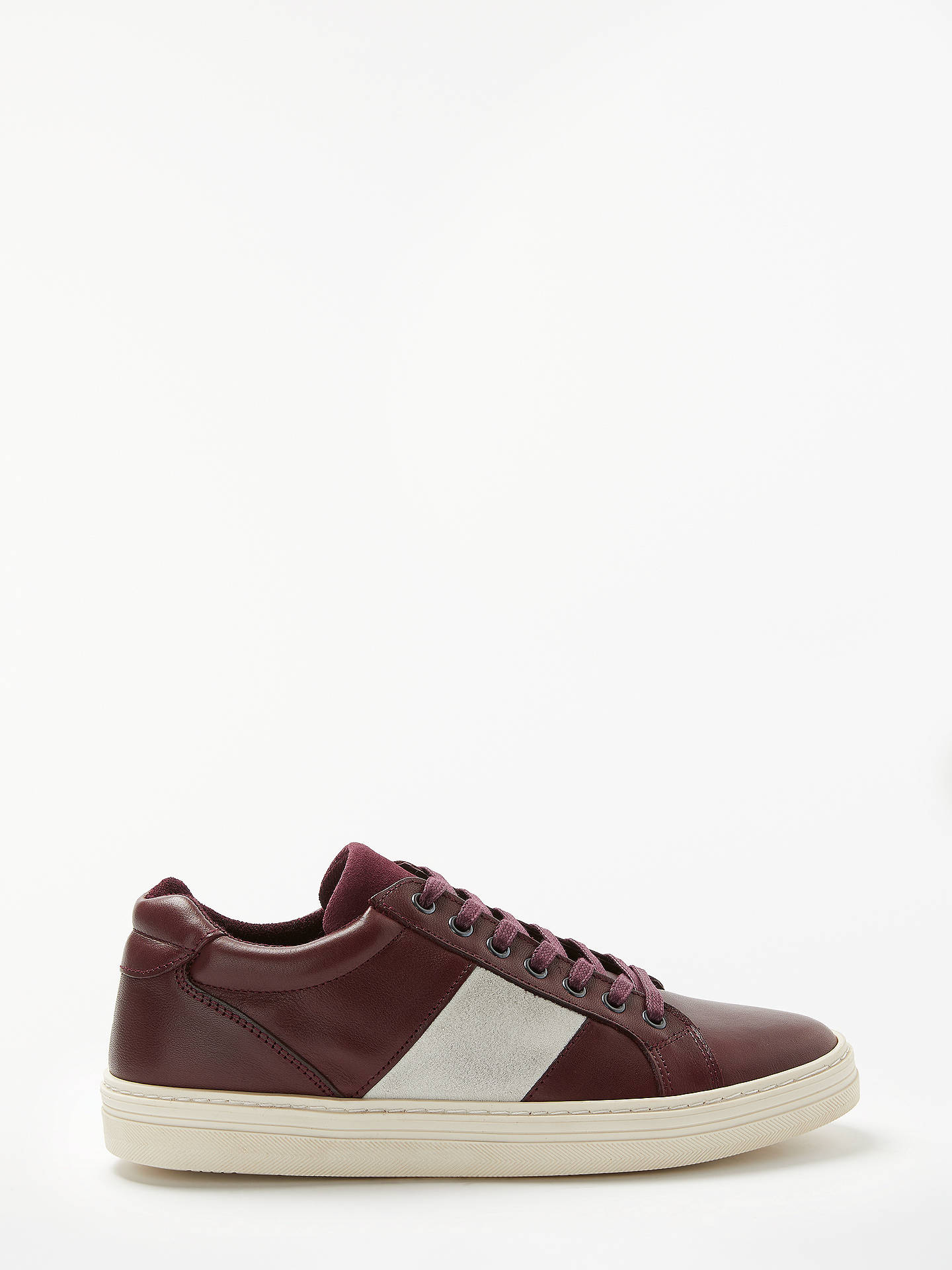 Buy John Lewis & Partners Clapton Leather Cupsole Trainers, Red, 9 Online at johnlewis.com