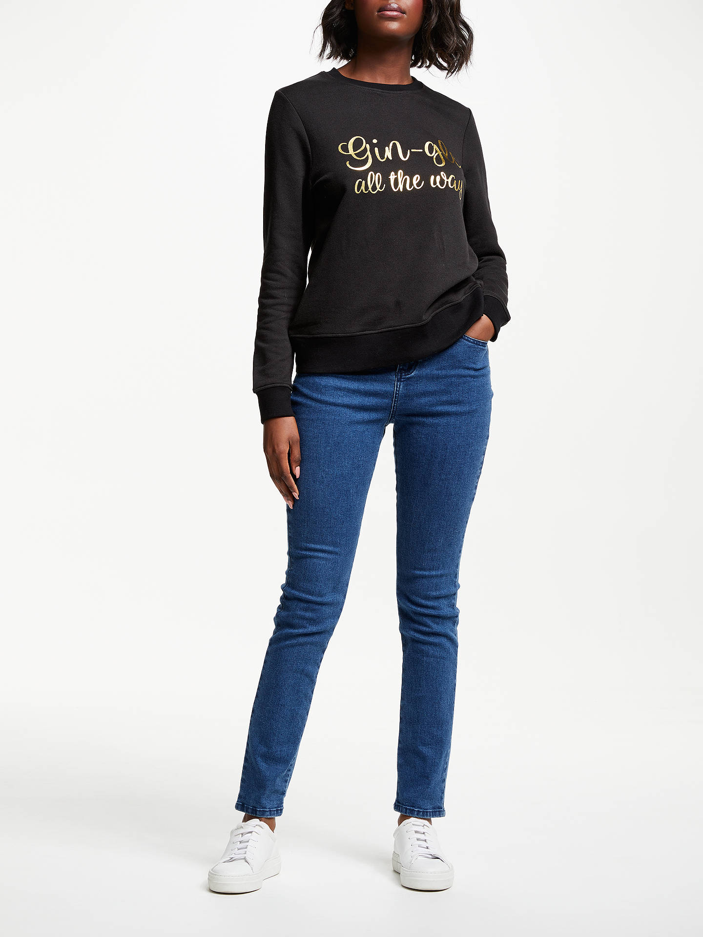 BuyCollection WEEKEND by John Lewis Gin-Gle All The Way Christmas Sweatshirt, Black/Gold, 8 Online at johnlewis.com