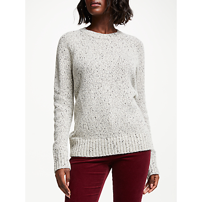 Collection WEEKEND by John Lewis Chunky Jumper, Grey/Silver