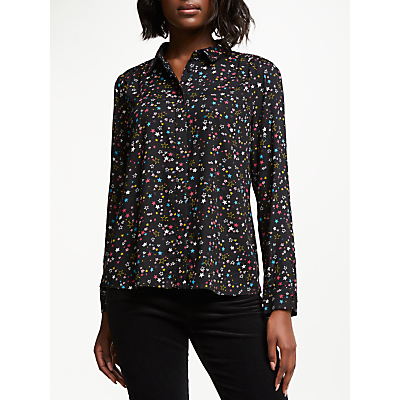 Collection WEEKEND by John Lewis Harlequin Star Shirt, Black/Multi