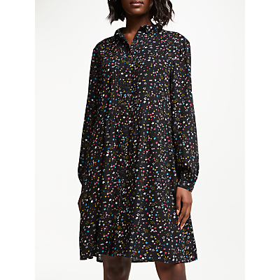 Collection WEEKEND by John Lewis Harlequin Star Shirt Dress, Black/Multi