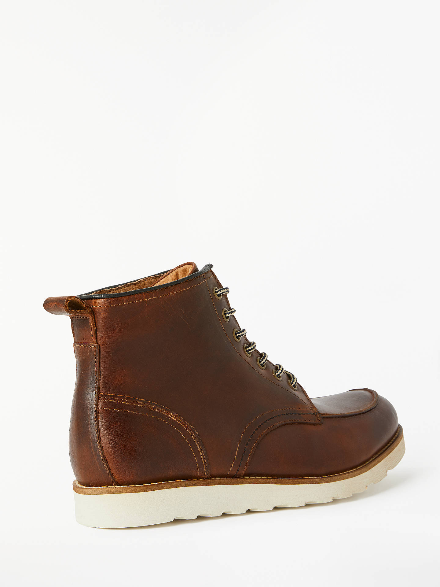 Buy John Lewis & Partners Moc Toe Boots, Brown, 11 Online at johnlewis.com