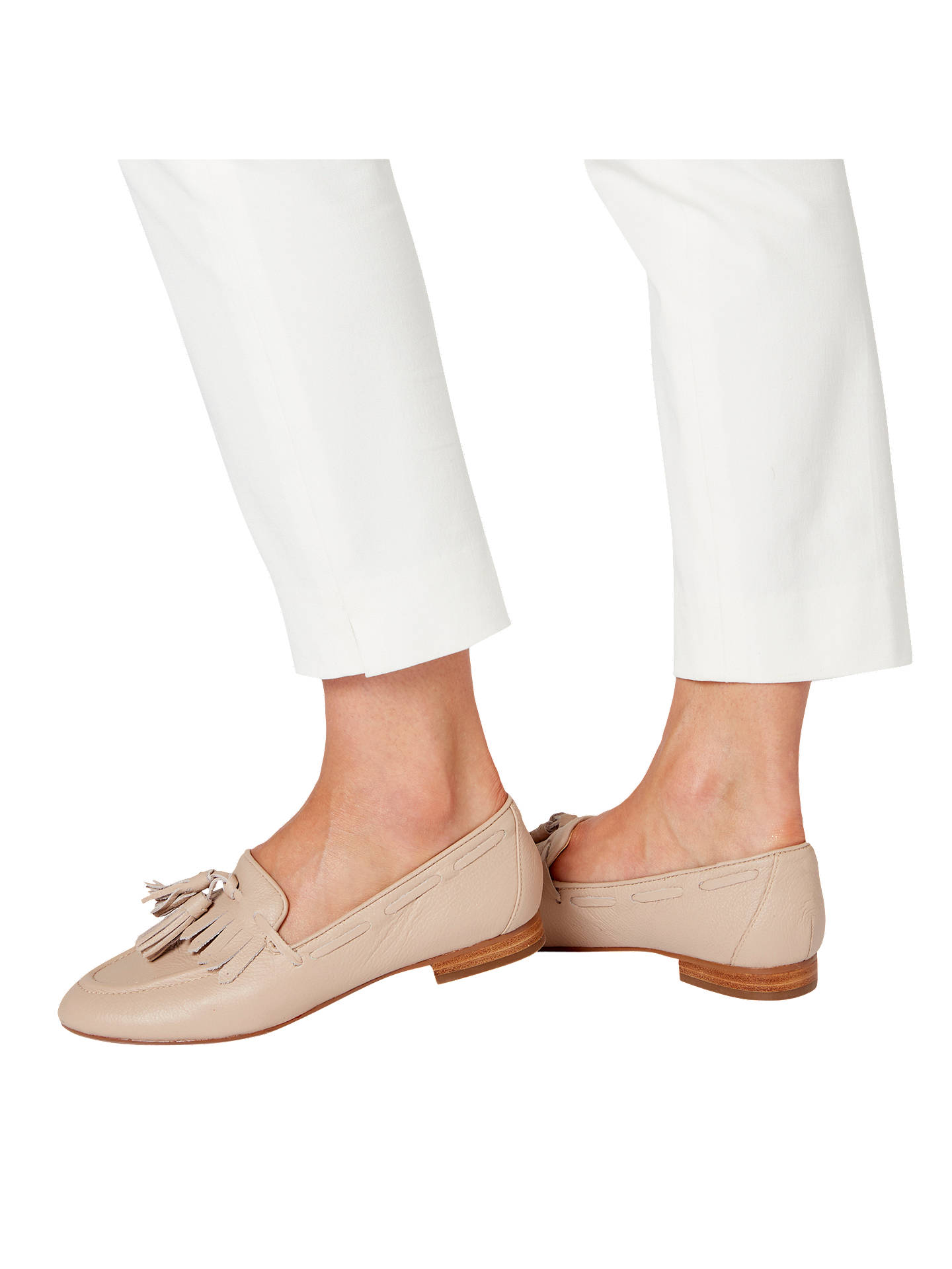BuyDune Gianni Tassel Loafers, Nude Leather, 3 Online at johnlewis.com