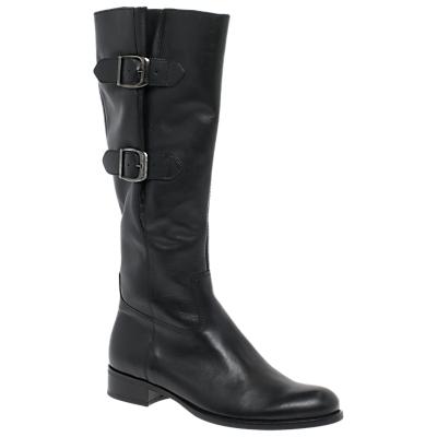 Gabor Astoria Block Heeled Knee High Boots, Black Leather