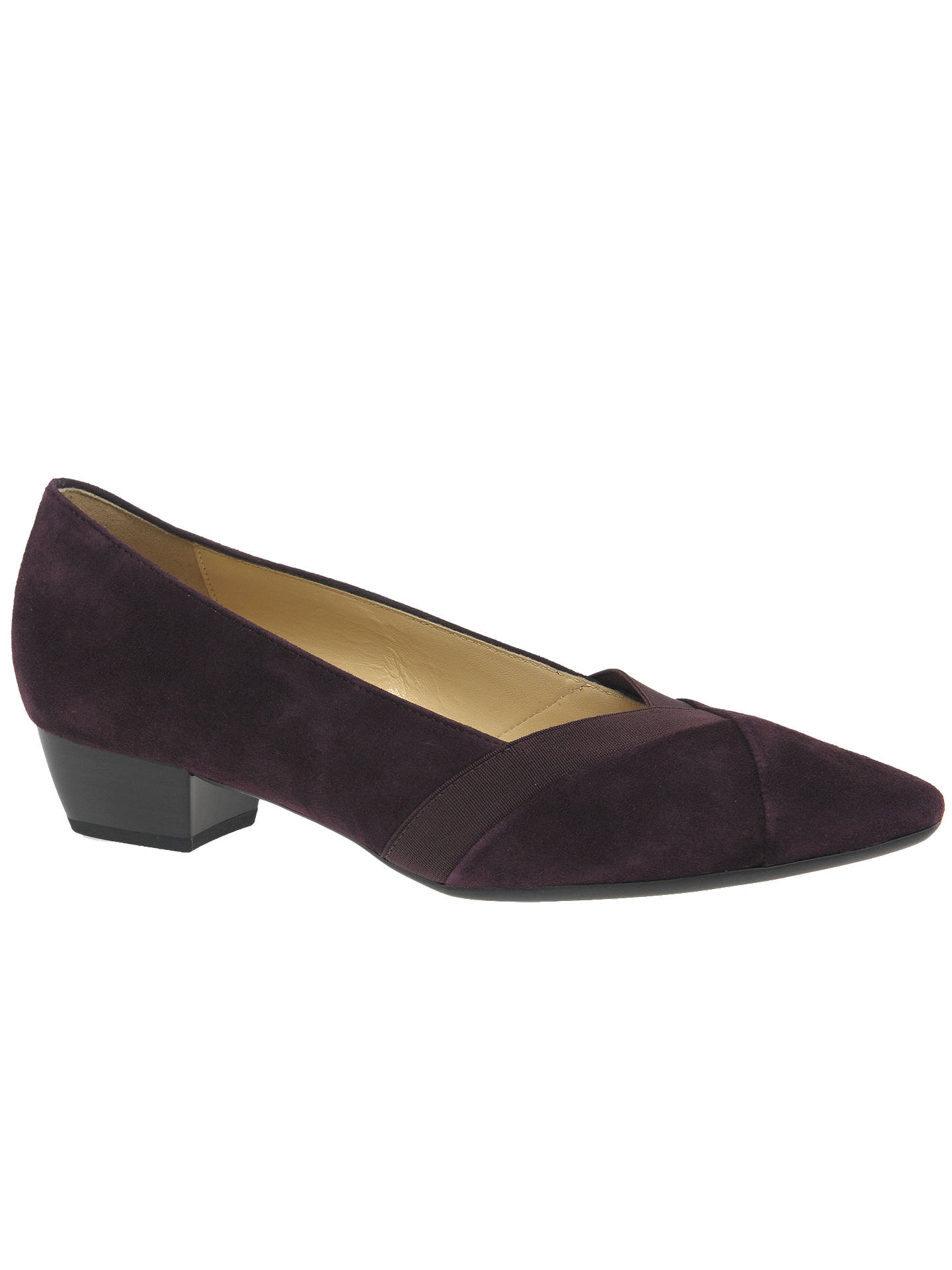 783b7c24f46 Gabor Opera Pointed Low Block Heel Court Shoes at John Lewis   Partners