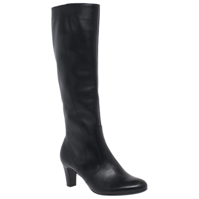 Gabor Maybe Slim Fit Knee High Boots, Black Leather