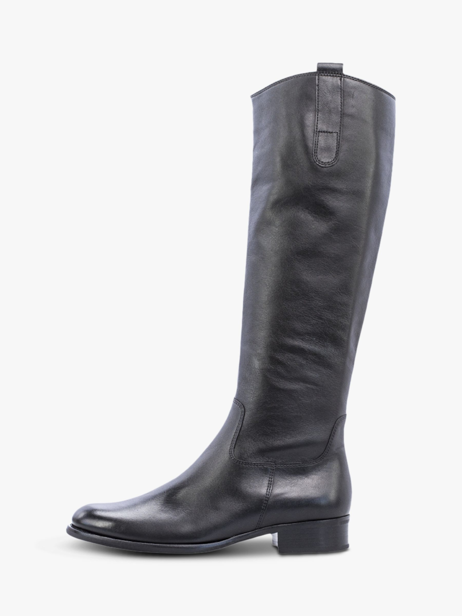 6257f7ffb11 Gabor Brook Slim Fit Low Block Heel Knee Boots at John Lewis   Partners