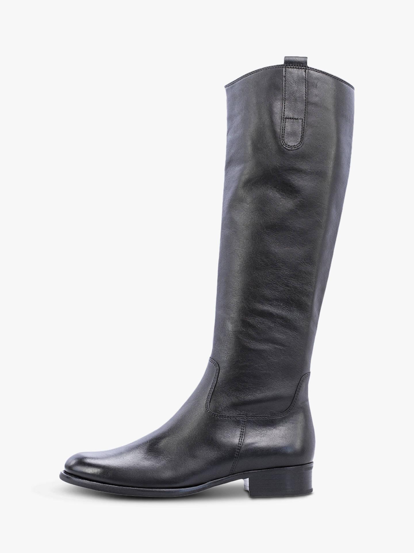 1dba2cf1c9a Gabor Brook Slim Fit Low Block Heel Knee Boots at John Lewis   Partners