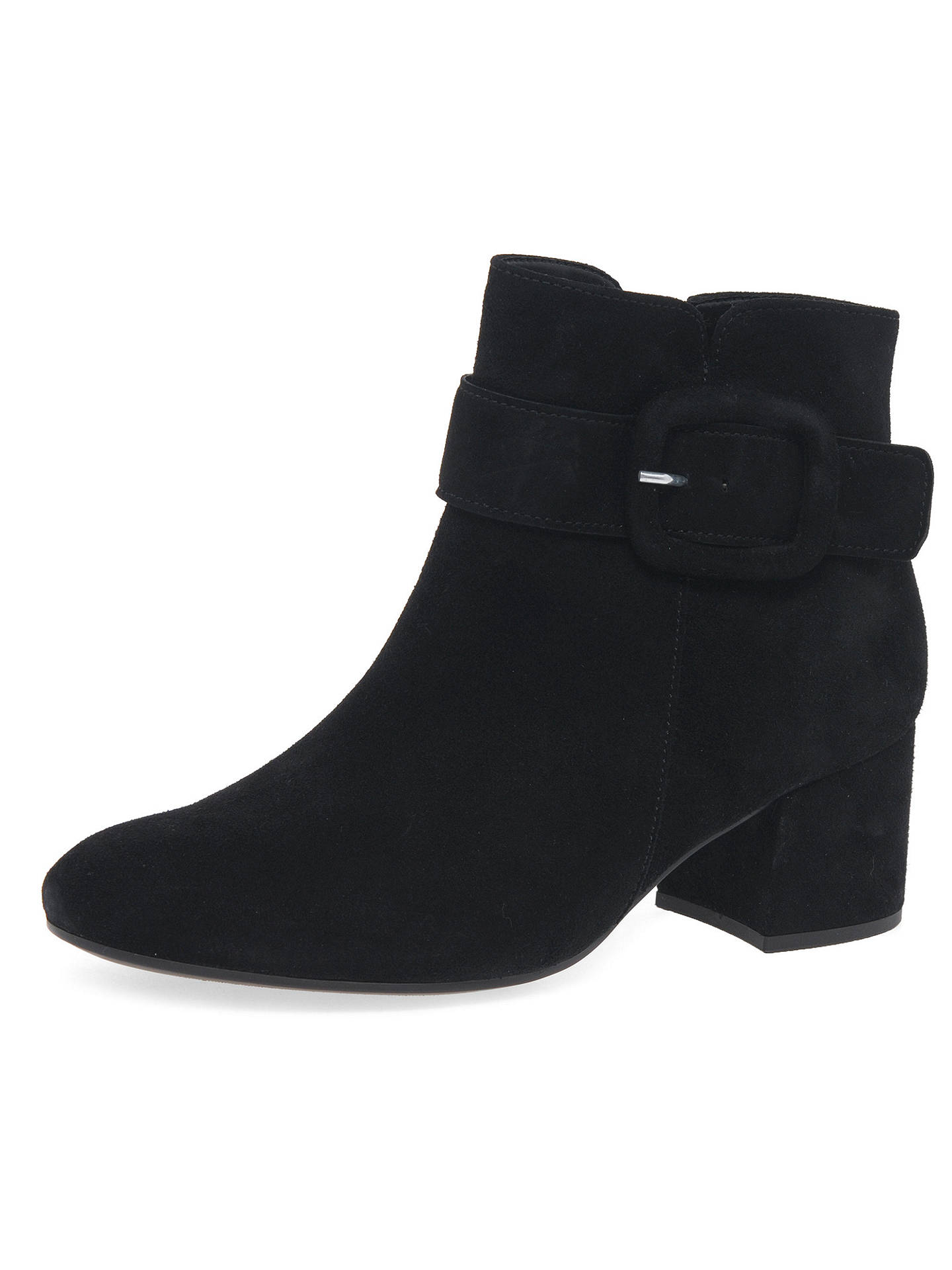 hot products huge discount amazon Gabor Capri Buckle Block Heel Ankle Boots, Black Suede at John ...