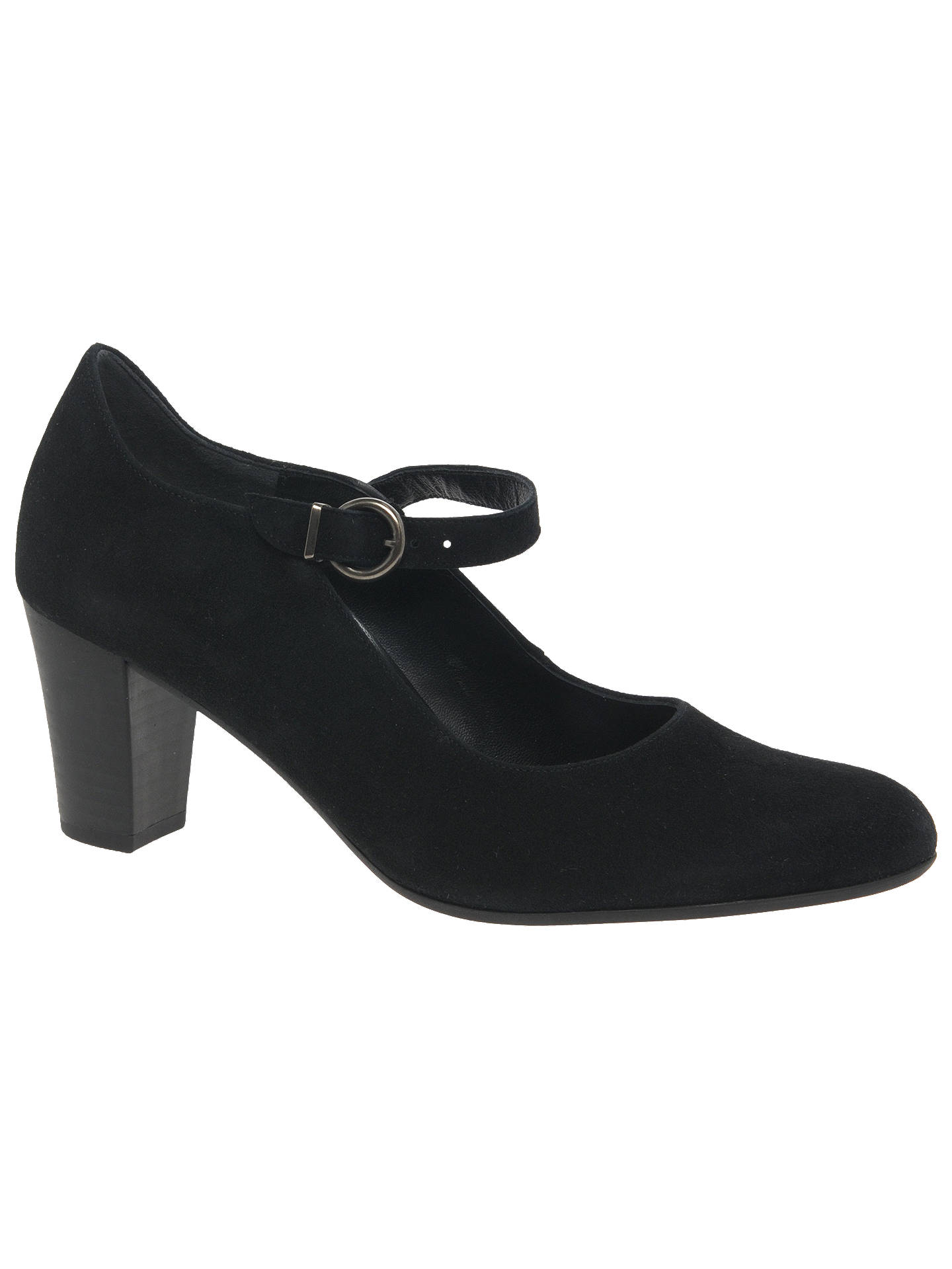 Wide Mary Suede Cone Pryce Jane At Fit Gabor Heel Court ShoesBlack 2DHe9WEIY
