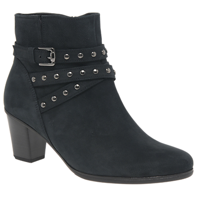 Gabor Faye Nubuck Ankle Boots, Blue