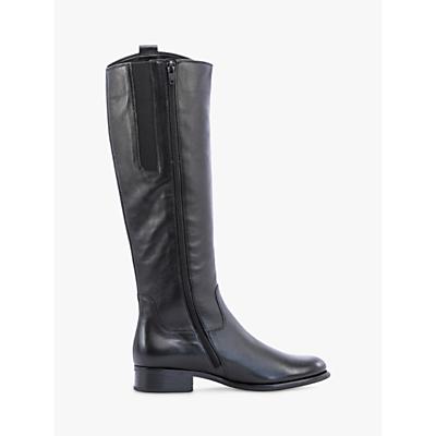 Gabor Brook Long Slim Block Heel Boots, Merlot Leather