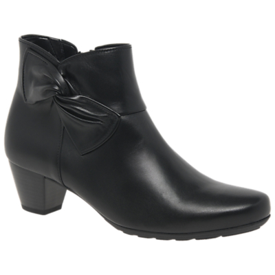 Gabor Chicago Wide Fit Ankle Boots, Black Leather
