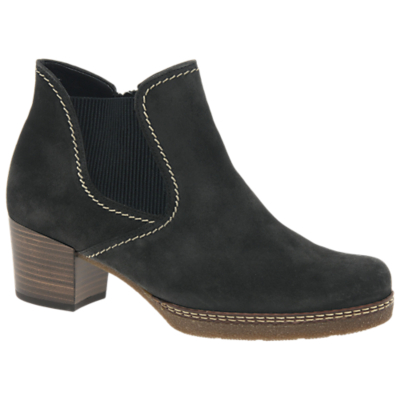 Gabor Lilia Wide Fit Block Heel Ankle Boots, Grey Suede